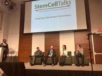 Panelist for a talk on stem cells in Toronto
