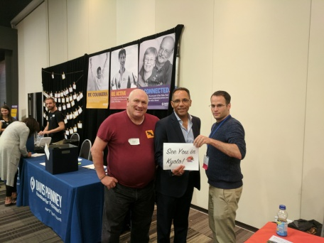 With Ryan Tripp and Tim Hague at a Davis Phinney Rally